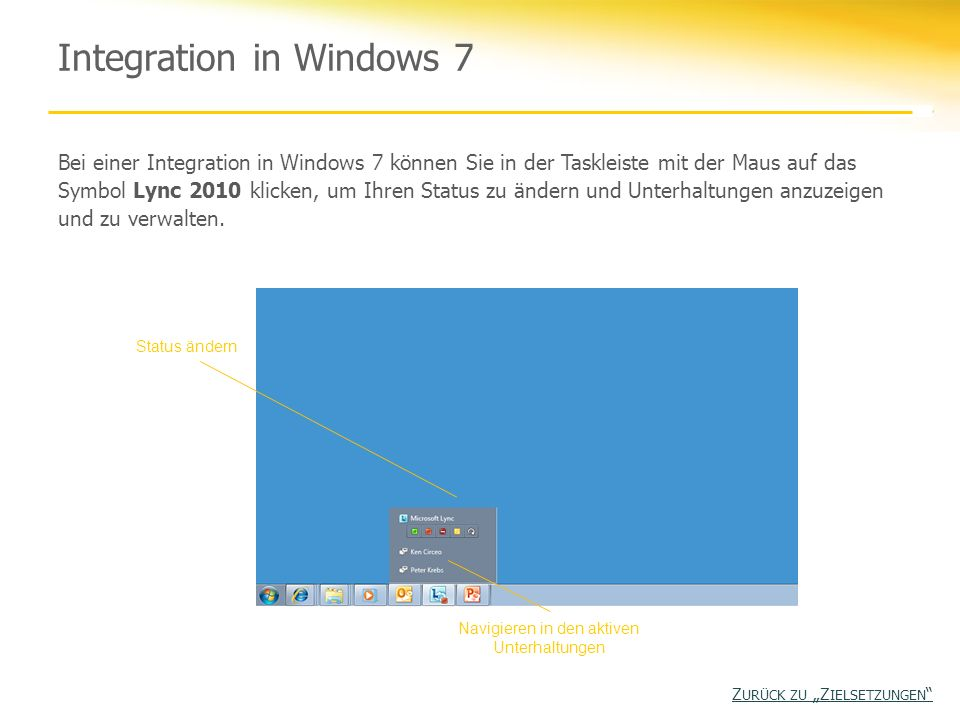 Integration in Windows 7
