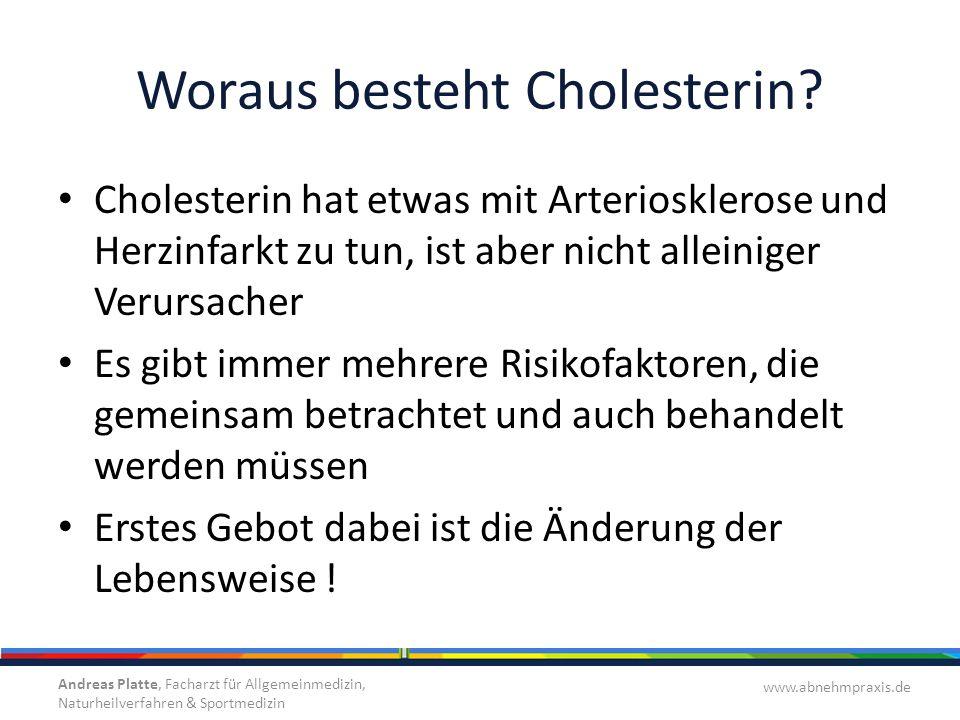 Woraus besteht Cholesterin