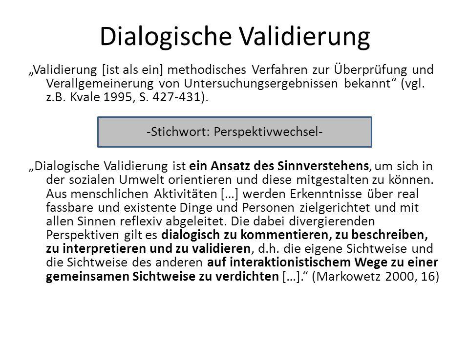 Dialogische Validierung