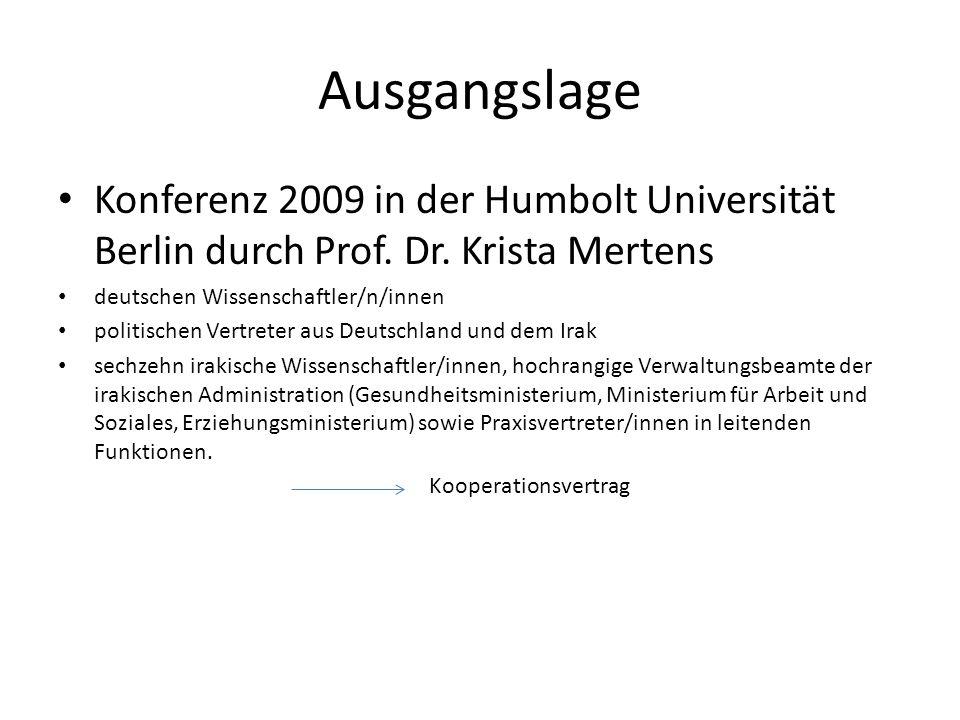 Ausgangslage Konferenz 2009 in der Humbolt Universität Berlin durch Prof. Dr. Krista Mertens. deutschen Wissenschaftler/n/innen.
