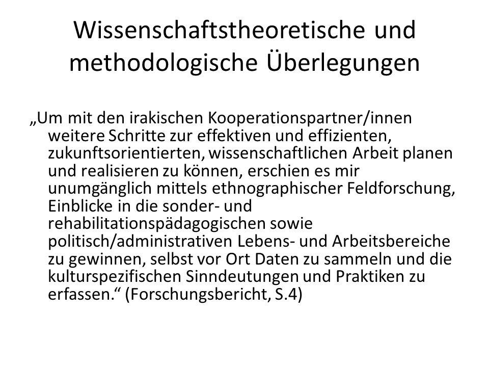 Wissenschaftstheoretische und methodologische Überlegungen