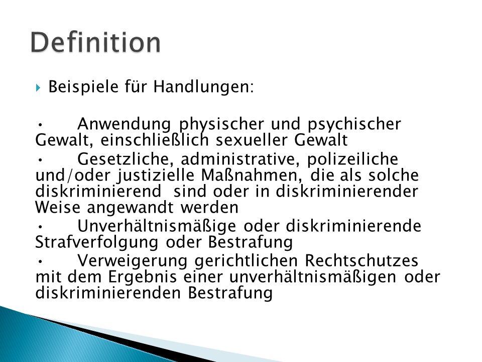 Definition Beispiele für Handlungen: