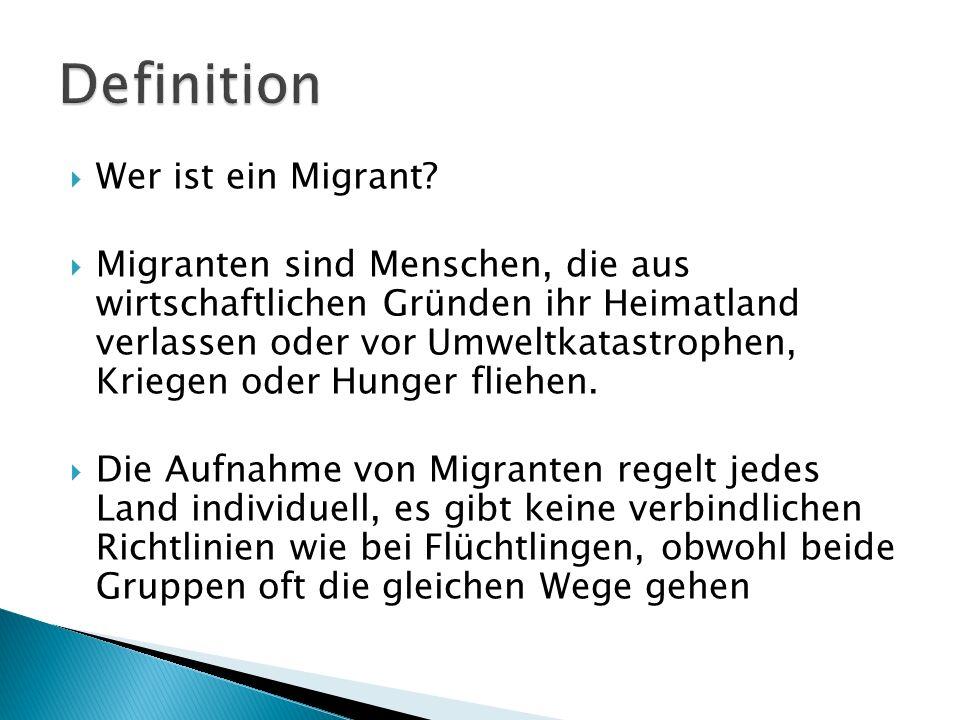 Definition Wer ist ein Migrant