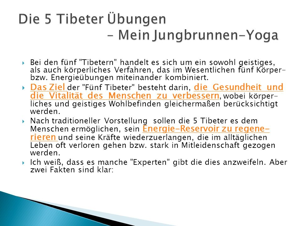 Die 5 Tibeter Übungen – Mein Jungbrunnen-Yoga