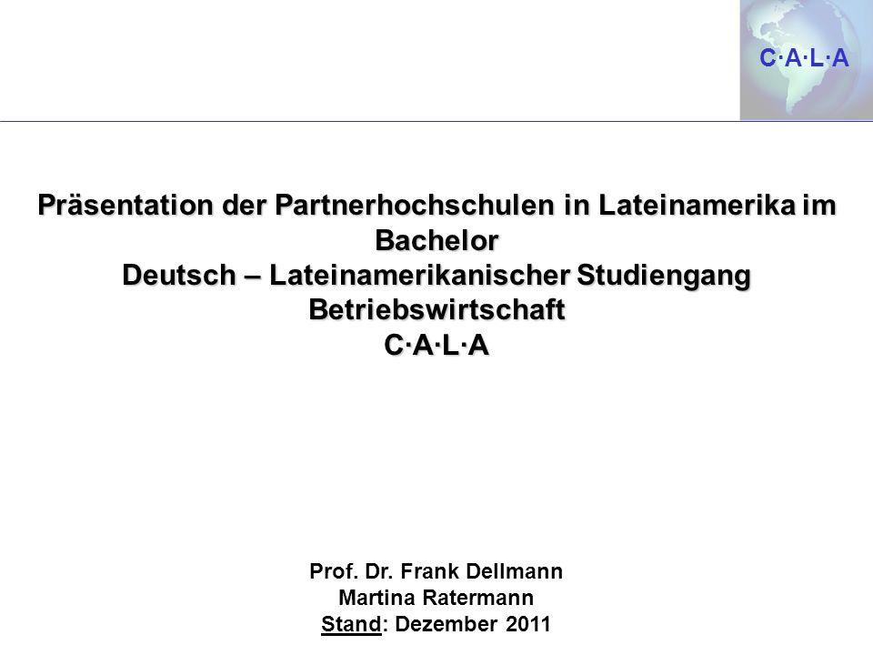 Präsentation der Partnerhochschulen in Lateinamerika im Bachelor