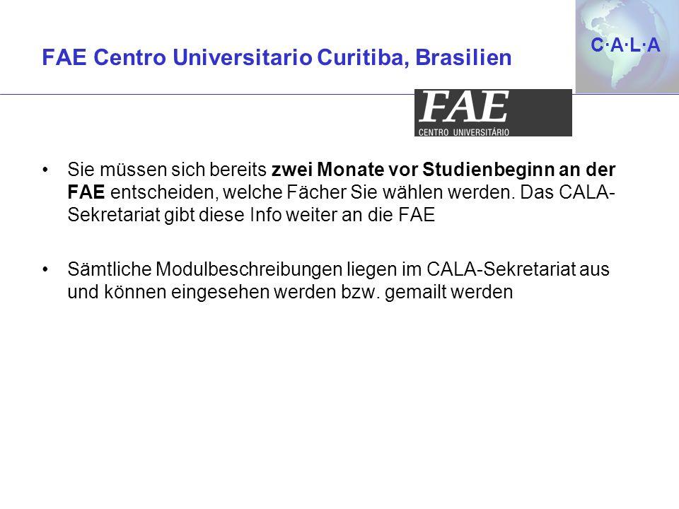 FAE Centro Universitario Curitiba, Brasilien