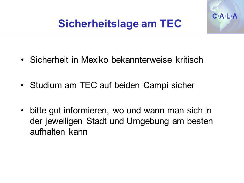Sicherheitslage am TEC
