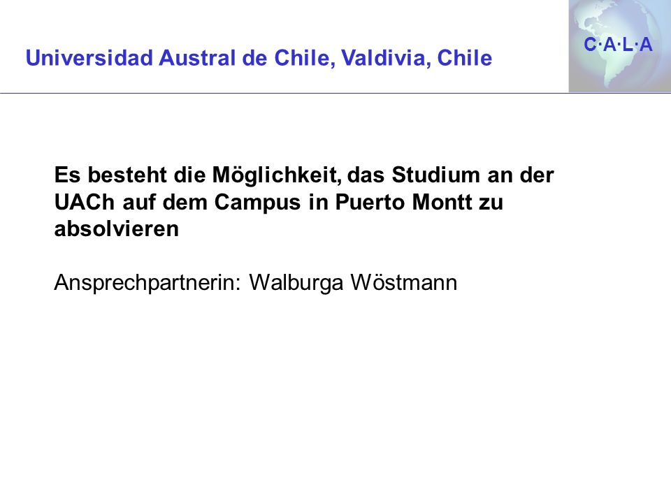 Universidad Austral de Chile, Valdivia, Chile