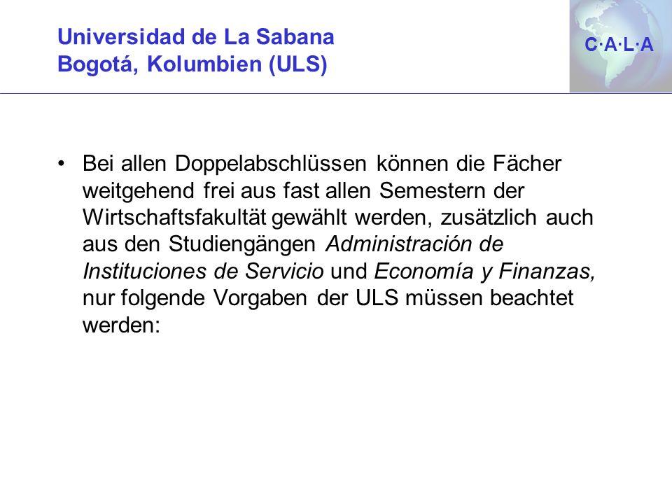 Universidad de La Sabana Bogotá, Kolumbien (ULS)