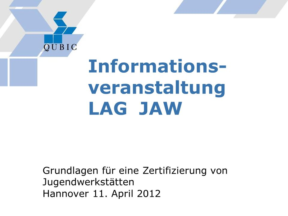 Informations-veranstaltung LAG JAW