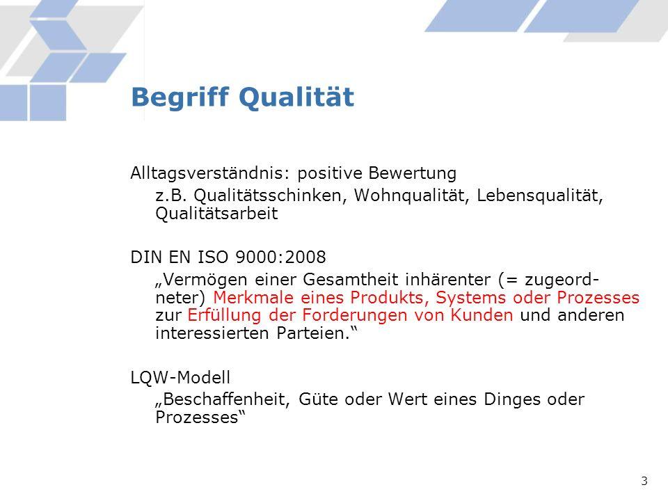 Begriff Qualität Alltagsverständnis: positive Bewertung