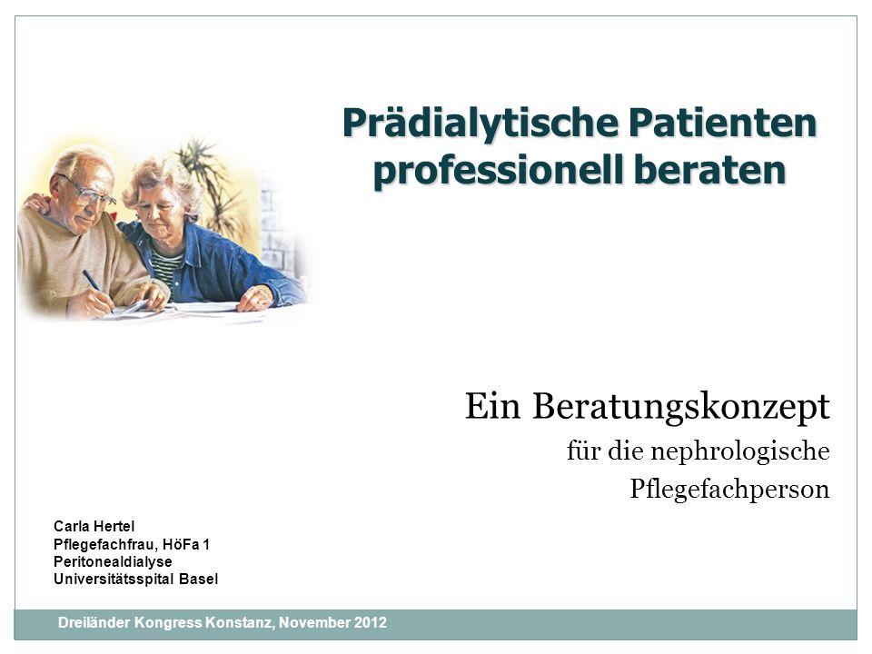 Ein Beratungskonzept für die nephrologische Pflegefachperson