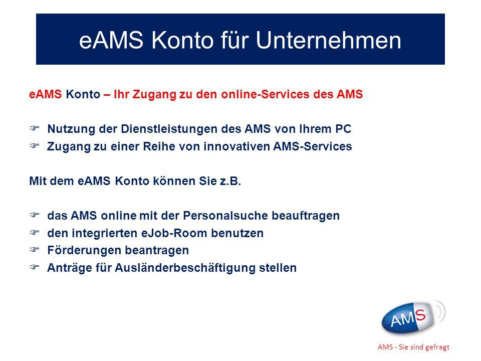 eAMS Konto für Unternehmen