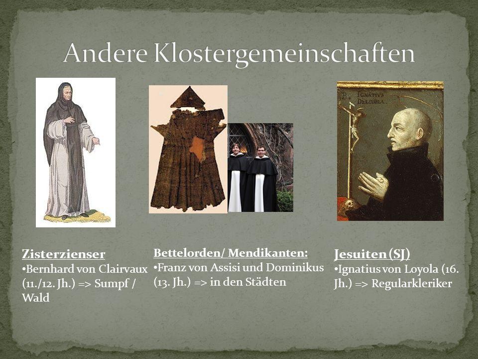 Andere Klostergemeinschaften
