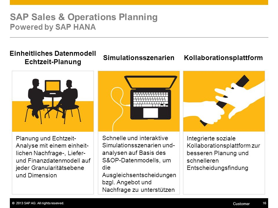 SAP Sales & Operations Planning Powered by SAP HANA
