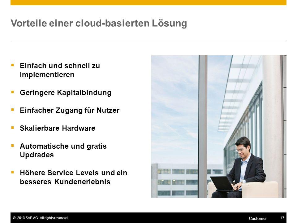 Vorteile einer cloud-basierten Lösung
