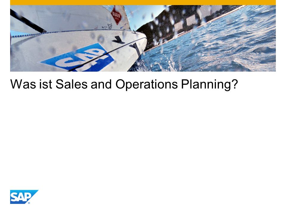 Was ist Sales and Operations Planning