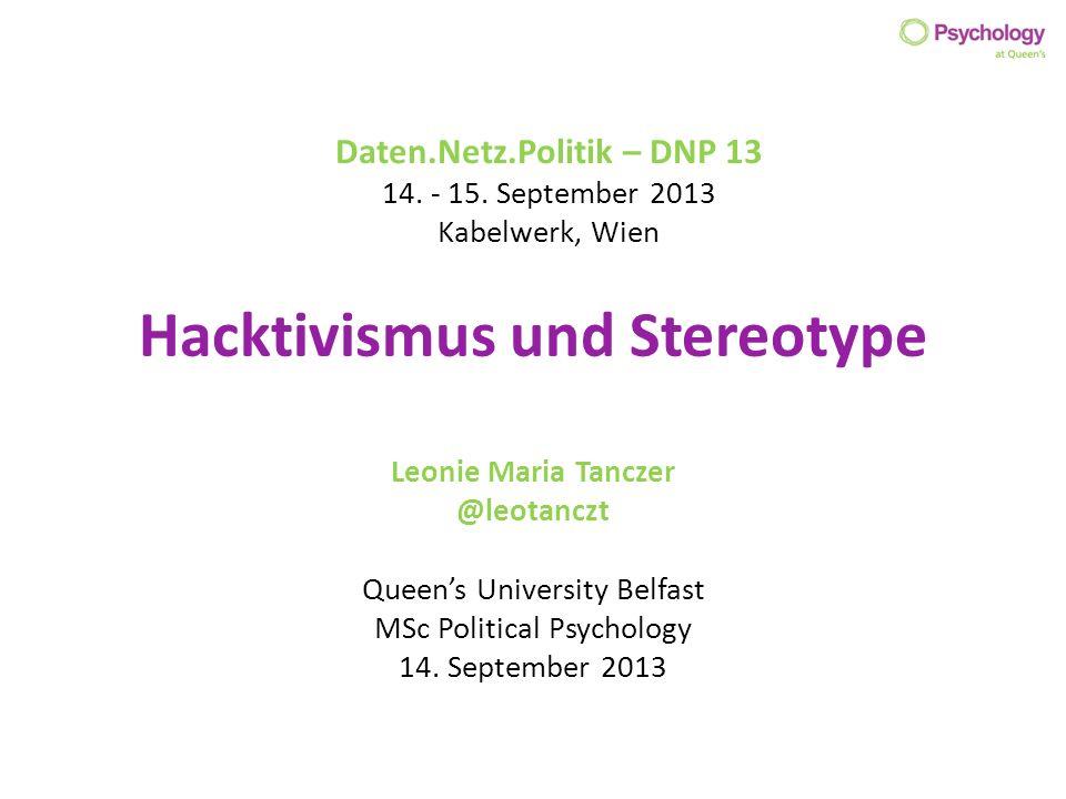 Hacktivismus und Stereotype
