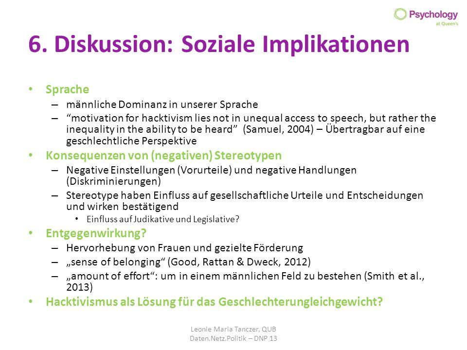 6. Diskussion: Soziale Implikationen