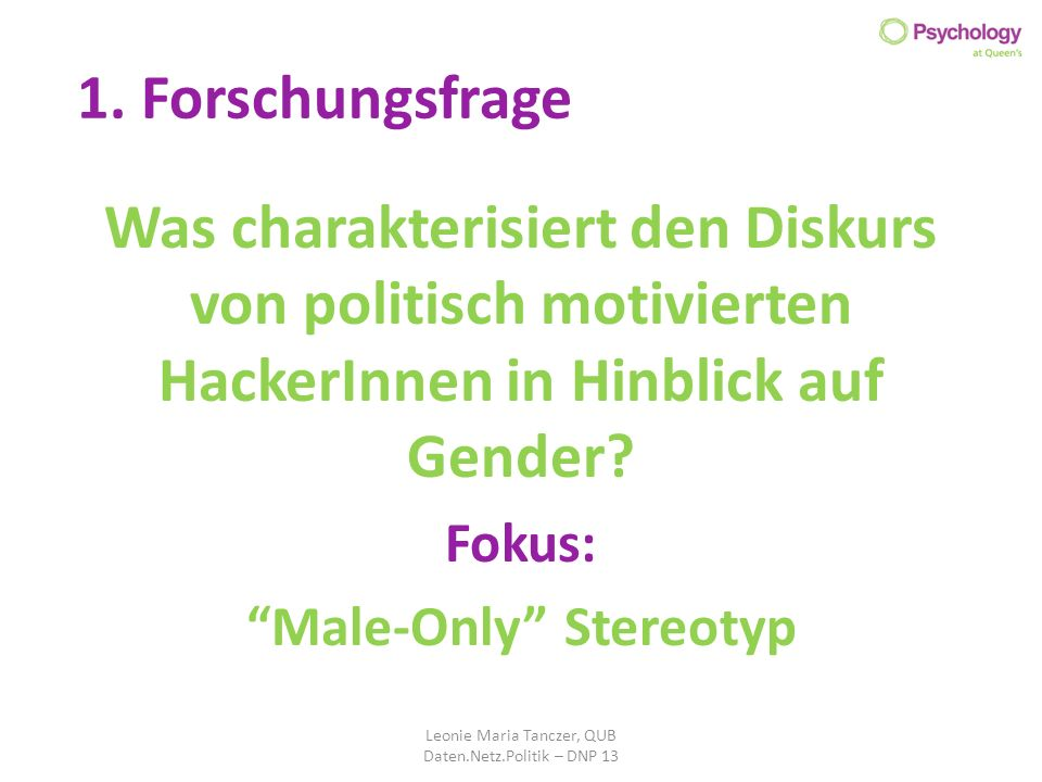 Male-Only Stereotyp