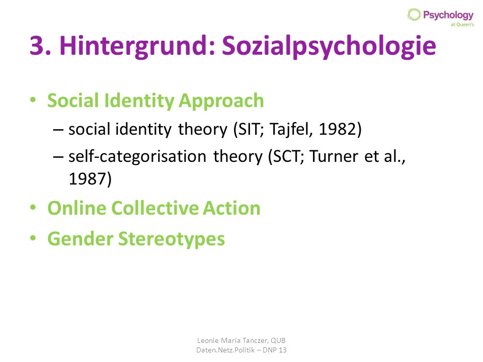 3. Hintergrund: Sozialpsychologie