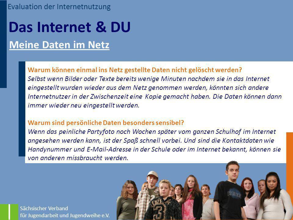 Das Internet & DU Meine Daten im Netz Evaluation der Internetnutzung