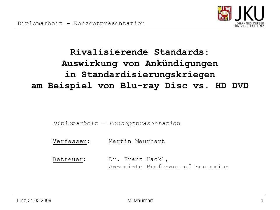 Rivalisierende Standards: Auswirkung von Ankündigungen in Standardisierungskriegen am Beispiel von Blu-ray Disc vs. HD DVD