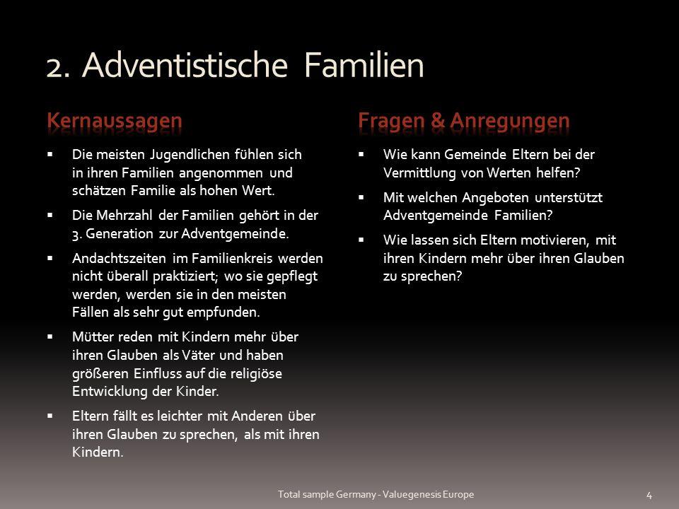 2. Adventistische Familien