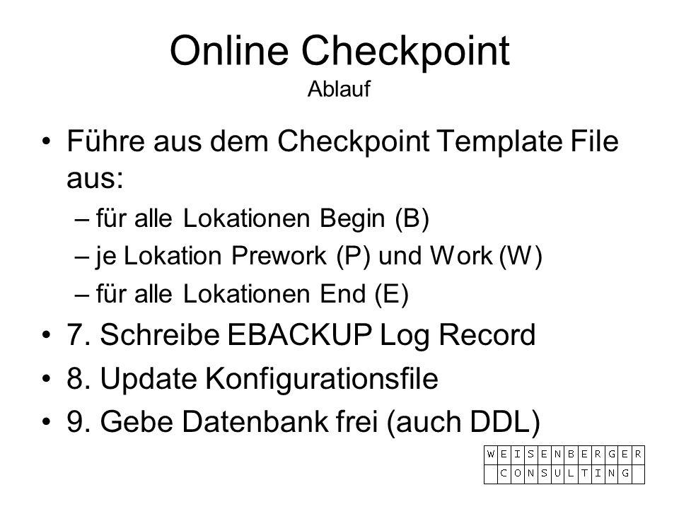Online Checkpoint Ablauf