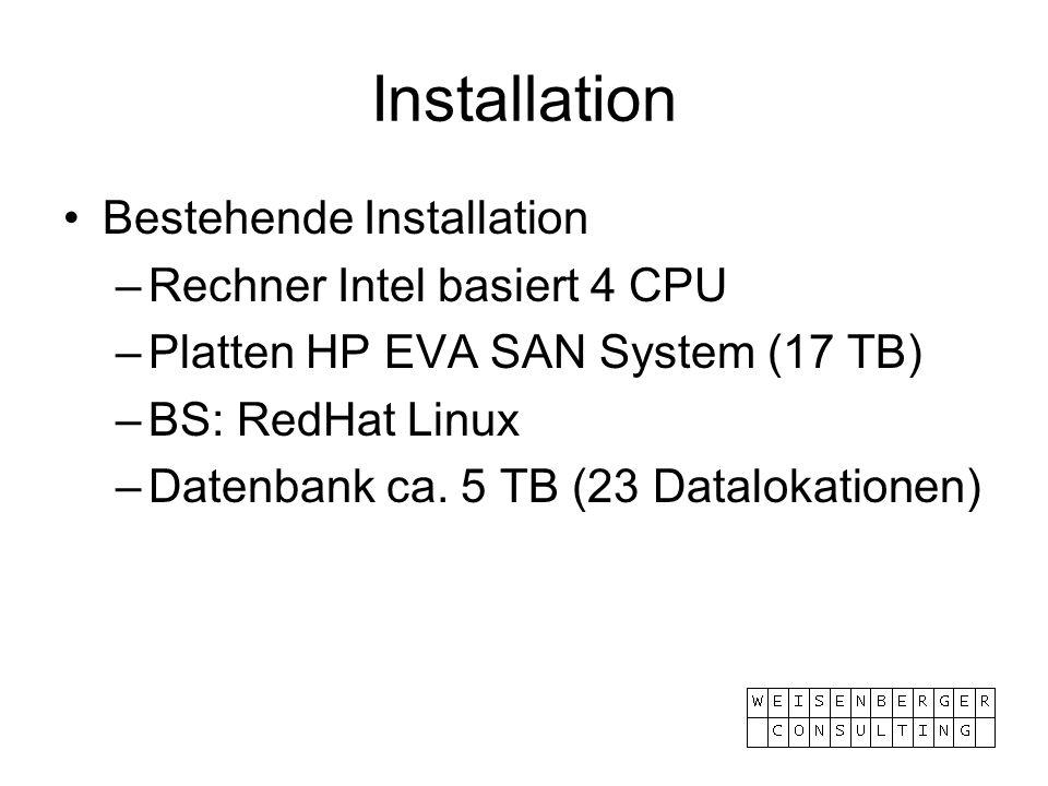 Installation Bestehende Installation Rechner Intel basiert 4 CPU