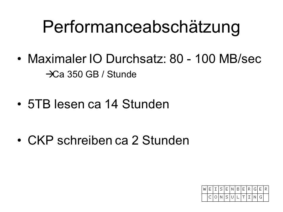 Performanceabschätzung