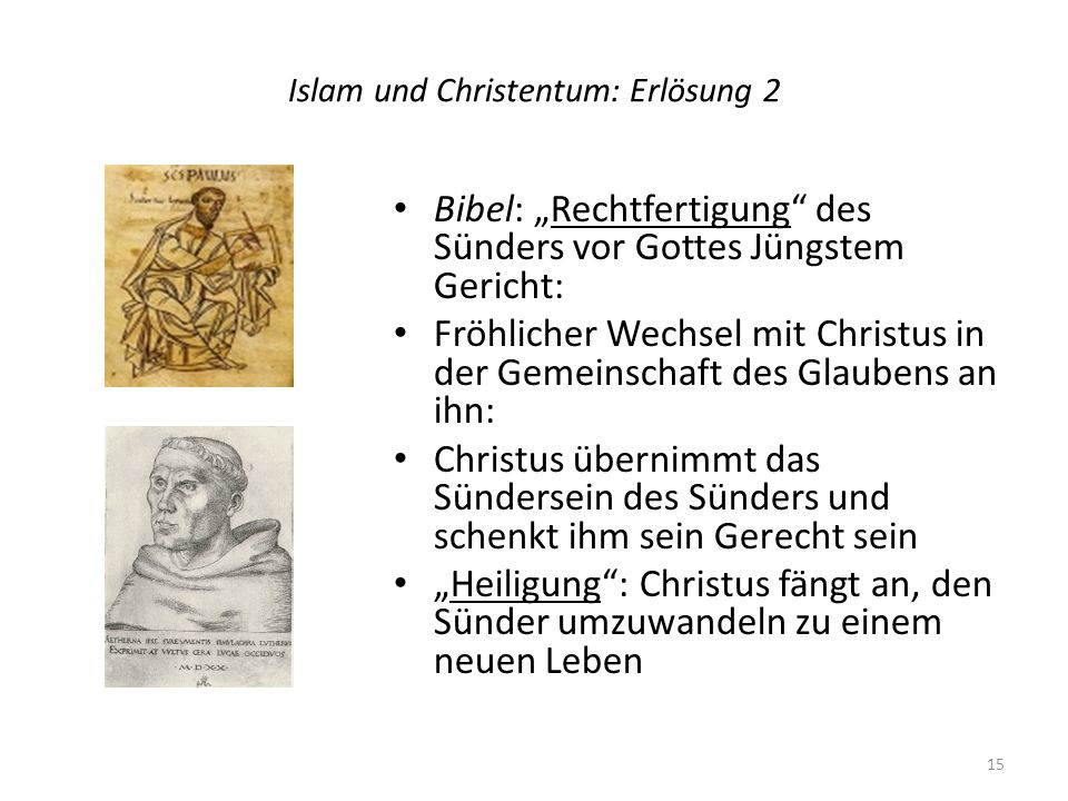 Islam und Christentum: Erlösung 2