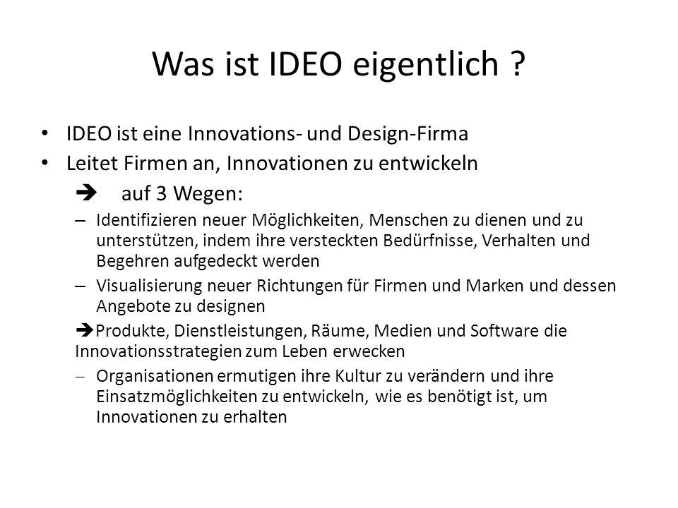 Was ist IDEO eigentlich