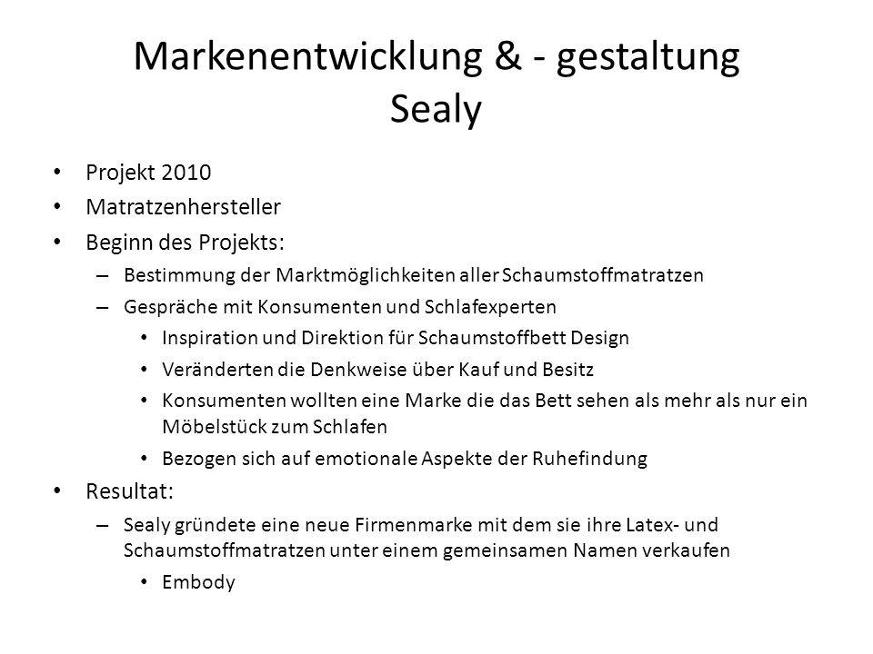 Markenentwicklung & - gestaltung Sealy