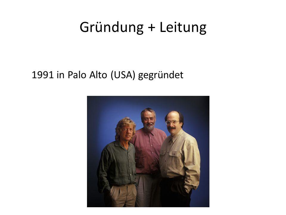 Gründung + Leitung 1991 in Palo Alto (USA) gegründet