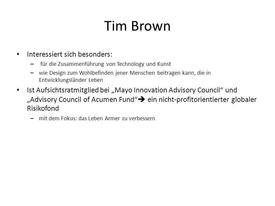 Tim Brown Interessiert sich besonders: