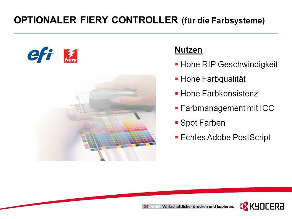 OPTIONALER FIERY CONTROLLER (für die Farbsysteme)