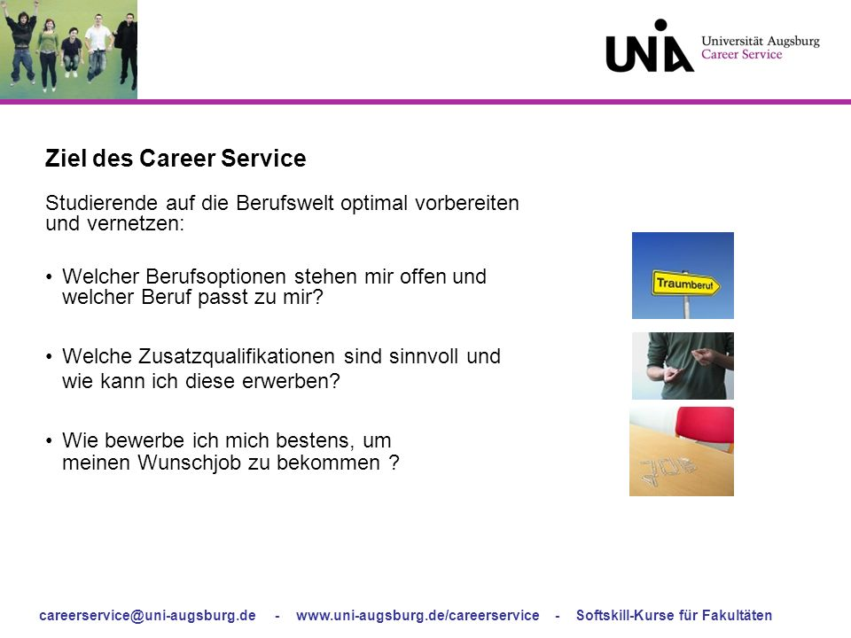 Ziel des Career Service