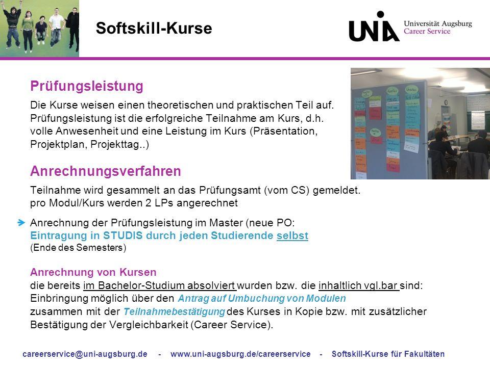 Softskill-Kurse Prüfungsleistung.