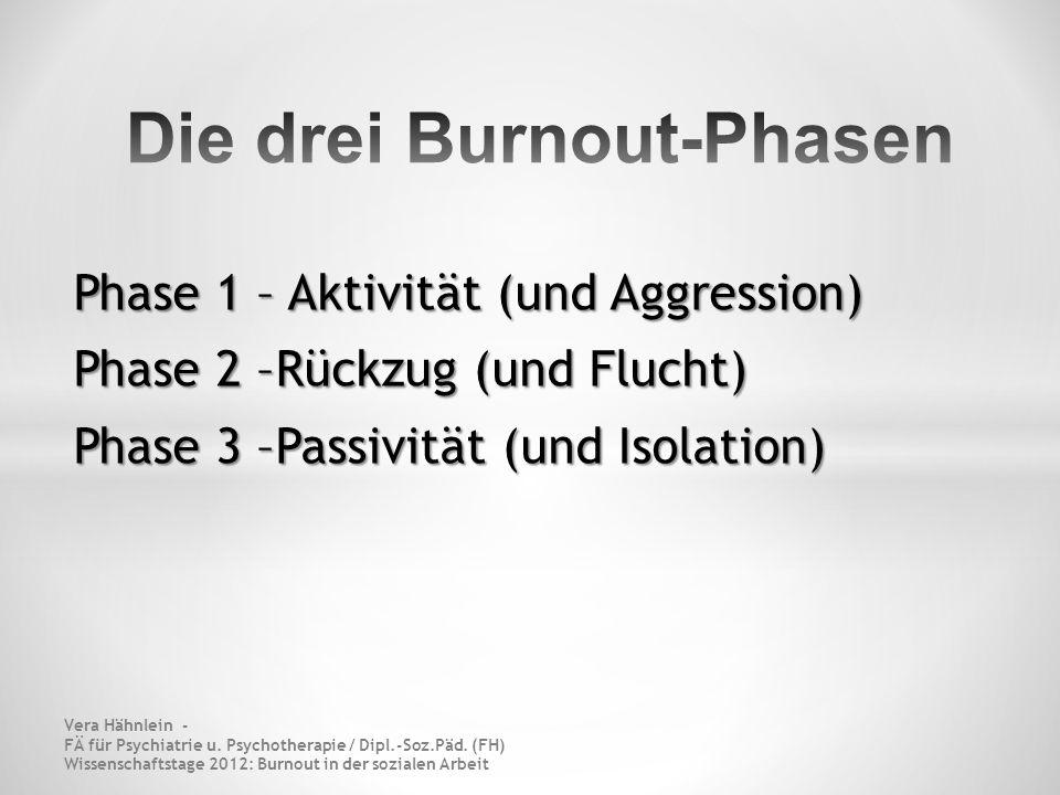 Die drei Burnout-Phasen