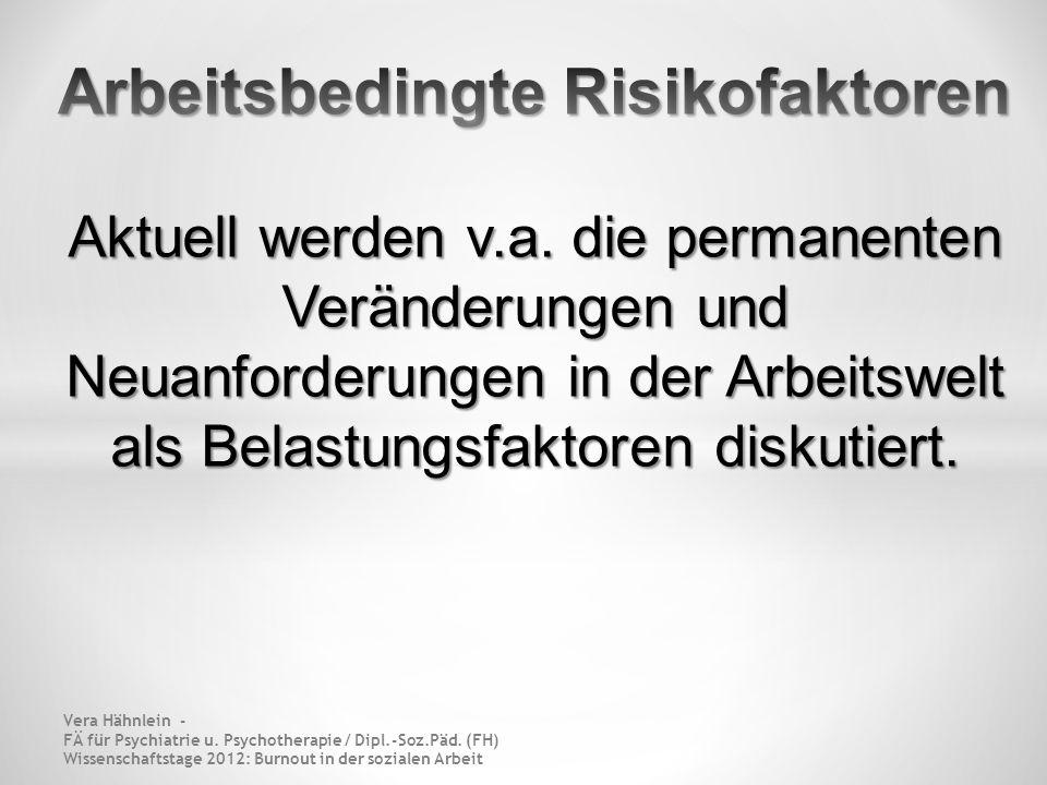 Arbeitsbedingte Risikofaktoren