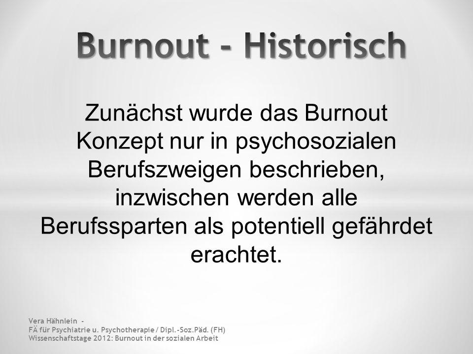 Burnout - Historisch