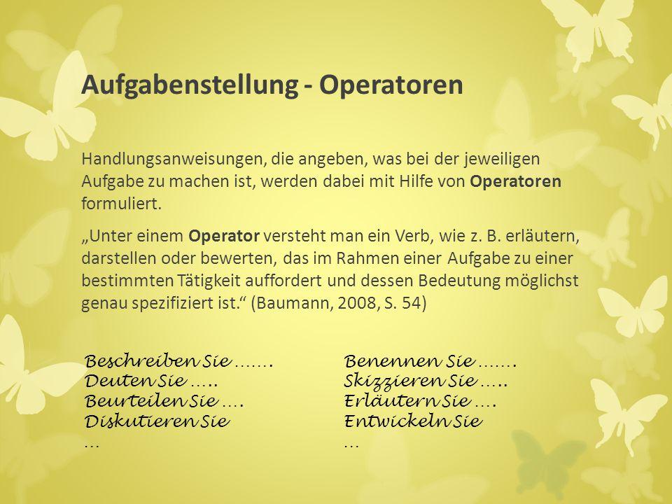 Aufgabenstellung - Operatoren