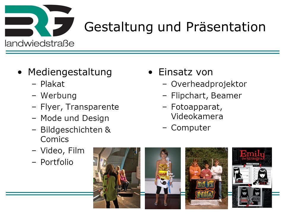 Gestaltung und Präsentation