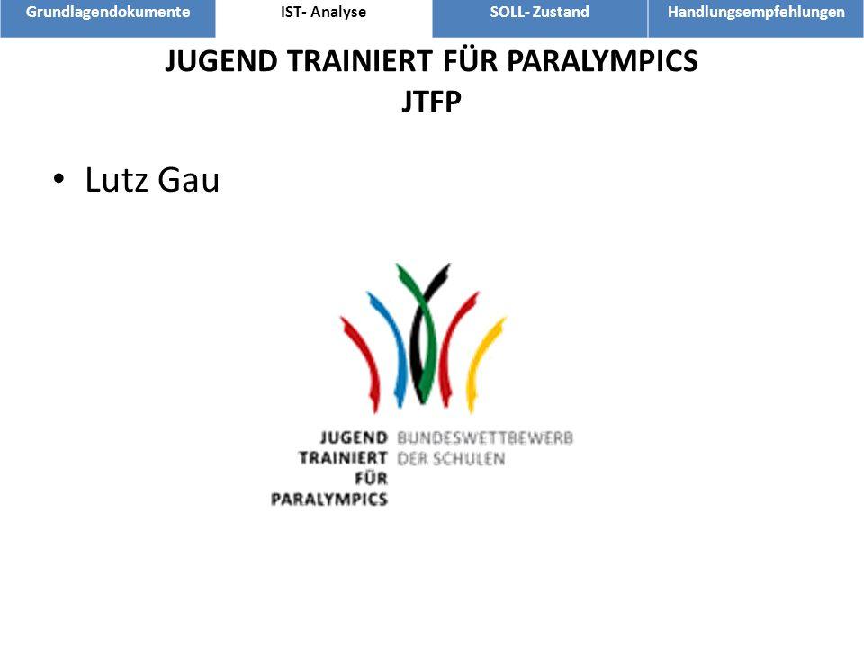 JUGEND TRAINIERT FÜR PARALYMPICS JTFP