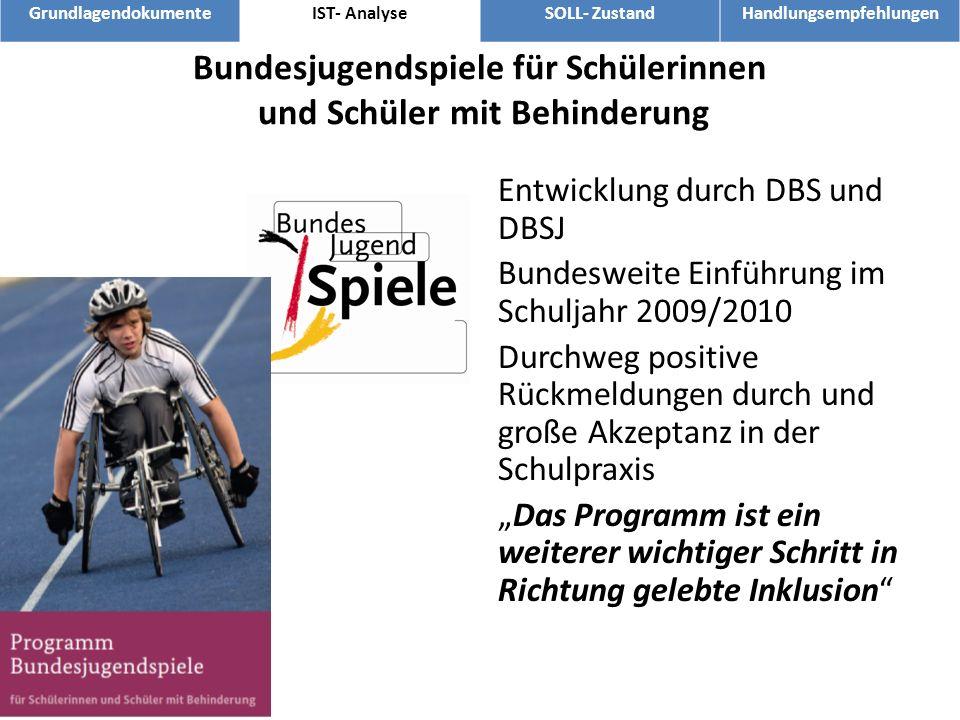 Bundesjugendspiele für Schülerinnen und Schüler mit Behinderung