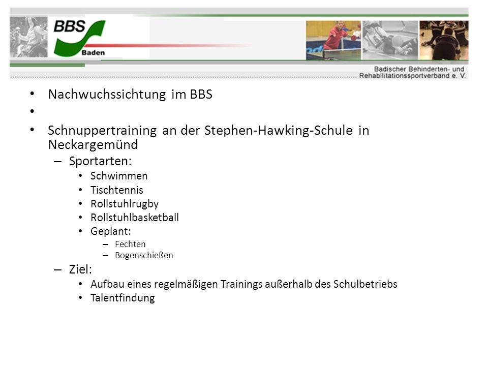 Nachwuchssichtung im BBS