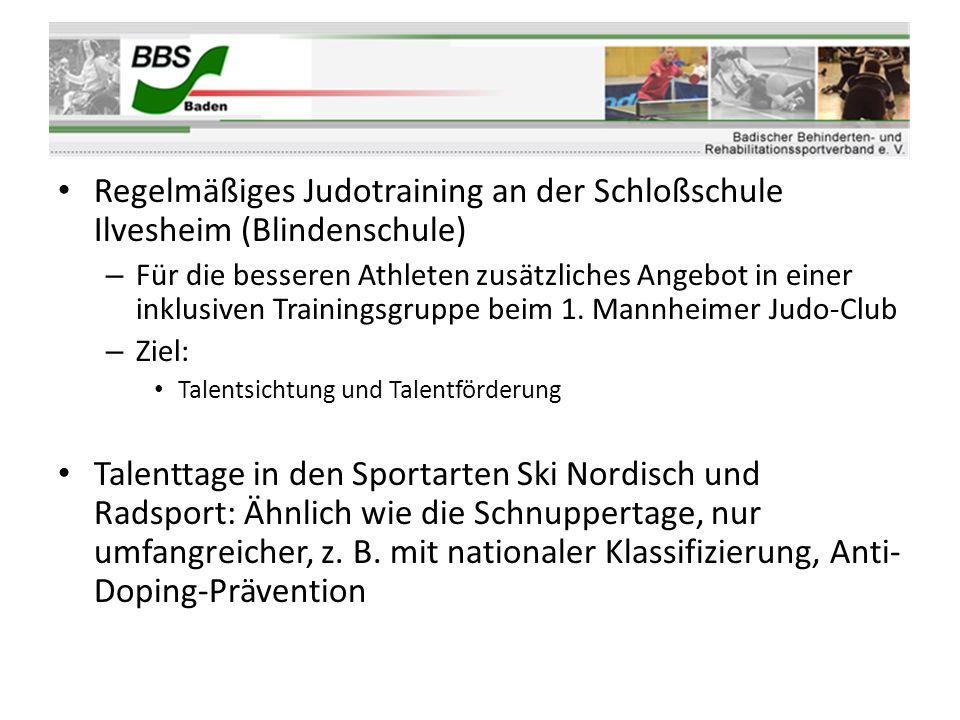 Regelmäßiges Judotraining an der Schloßschule Ilvesheim (Blindenschule)