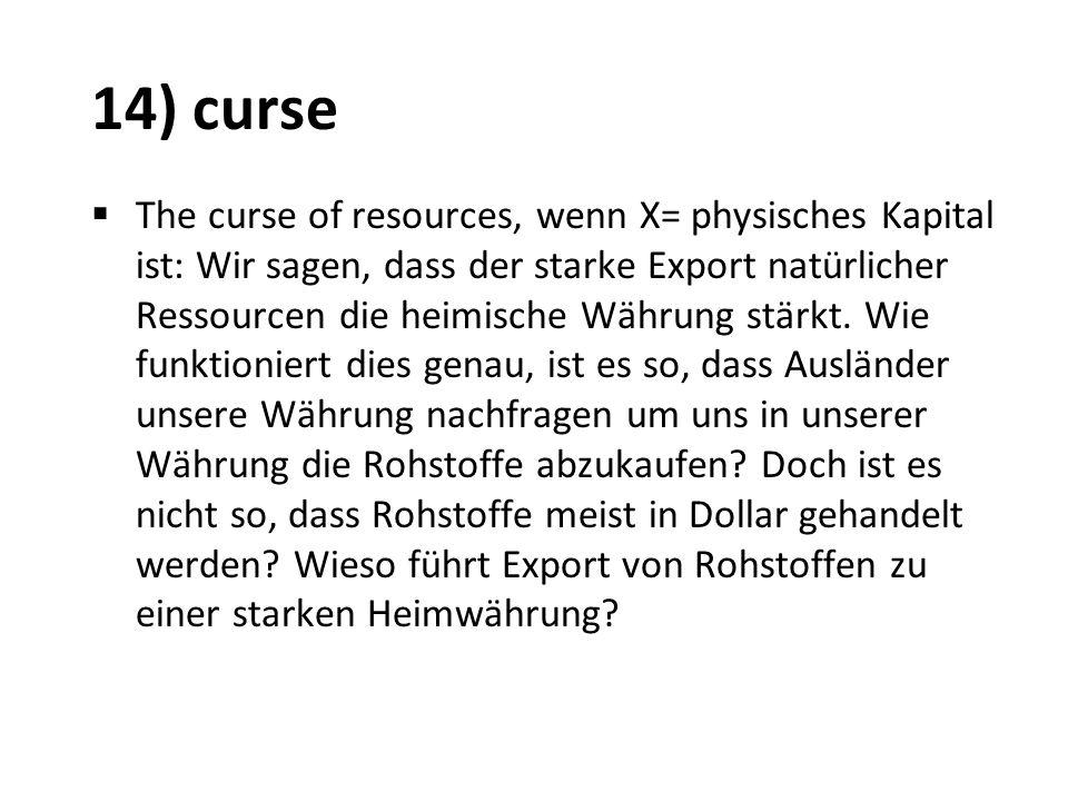 14) curse