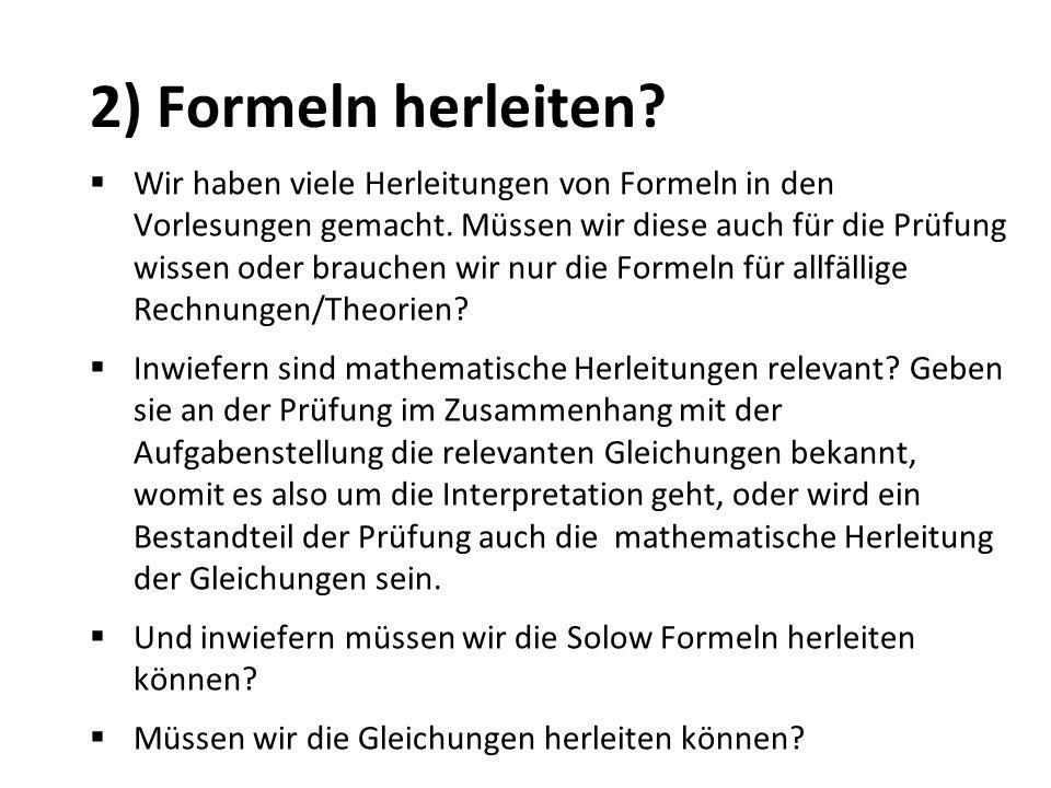 2) Formeln herleiten